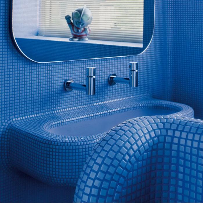 Мозаика на сетке. Мозаика для ванны