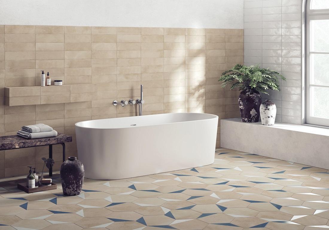 Шестигранная плитка для ванной