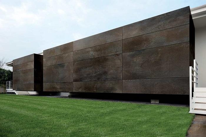 Керамогранит для фасада. Современный фасад