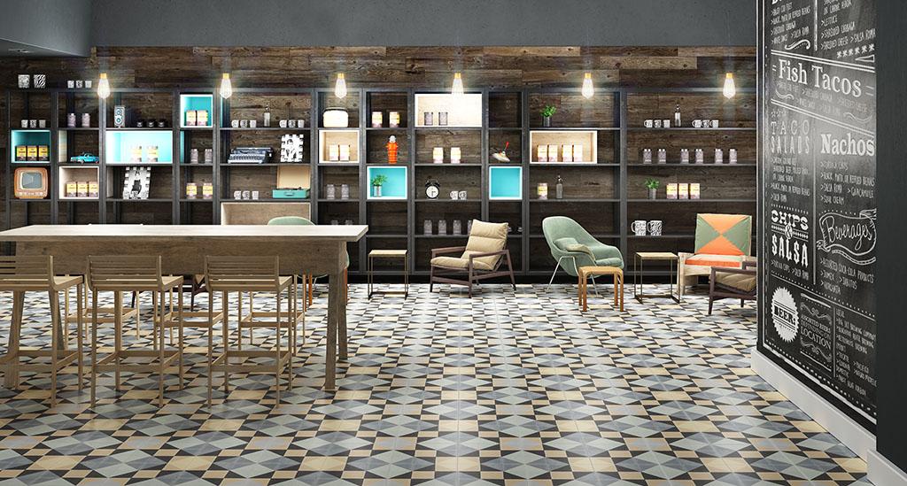 Плитка на пол для кухни современная