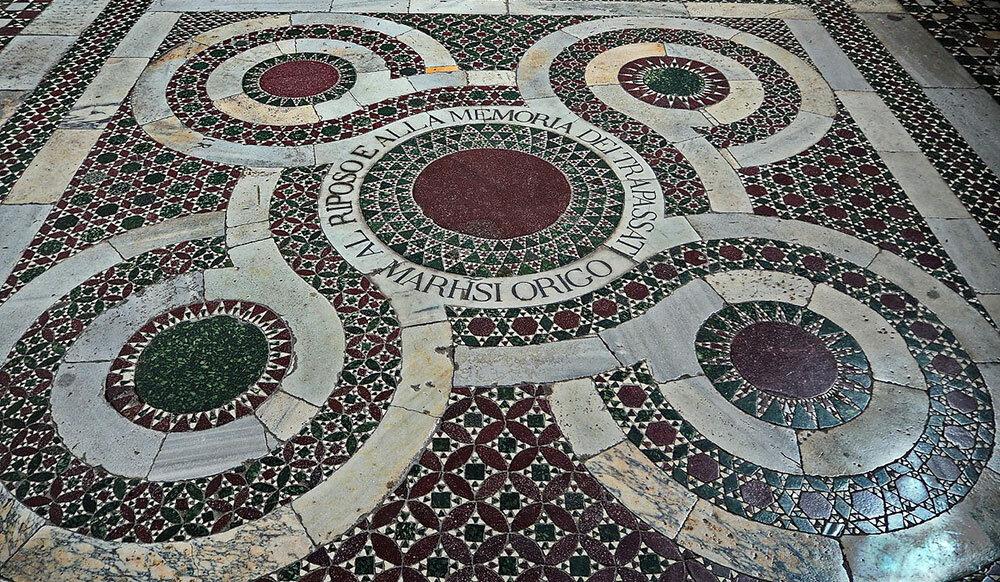 Каменная мозаика. Римский орнамент